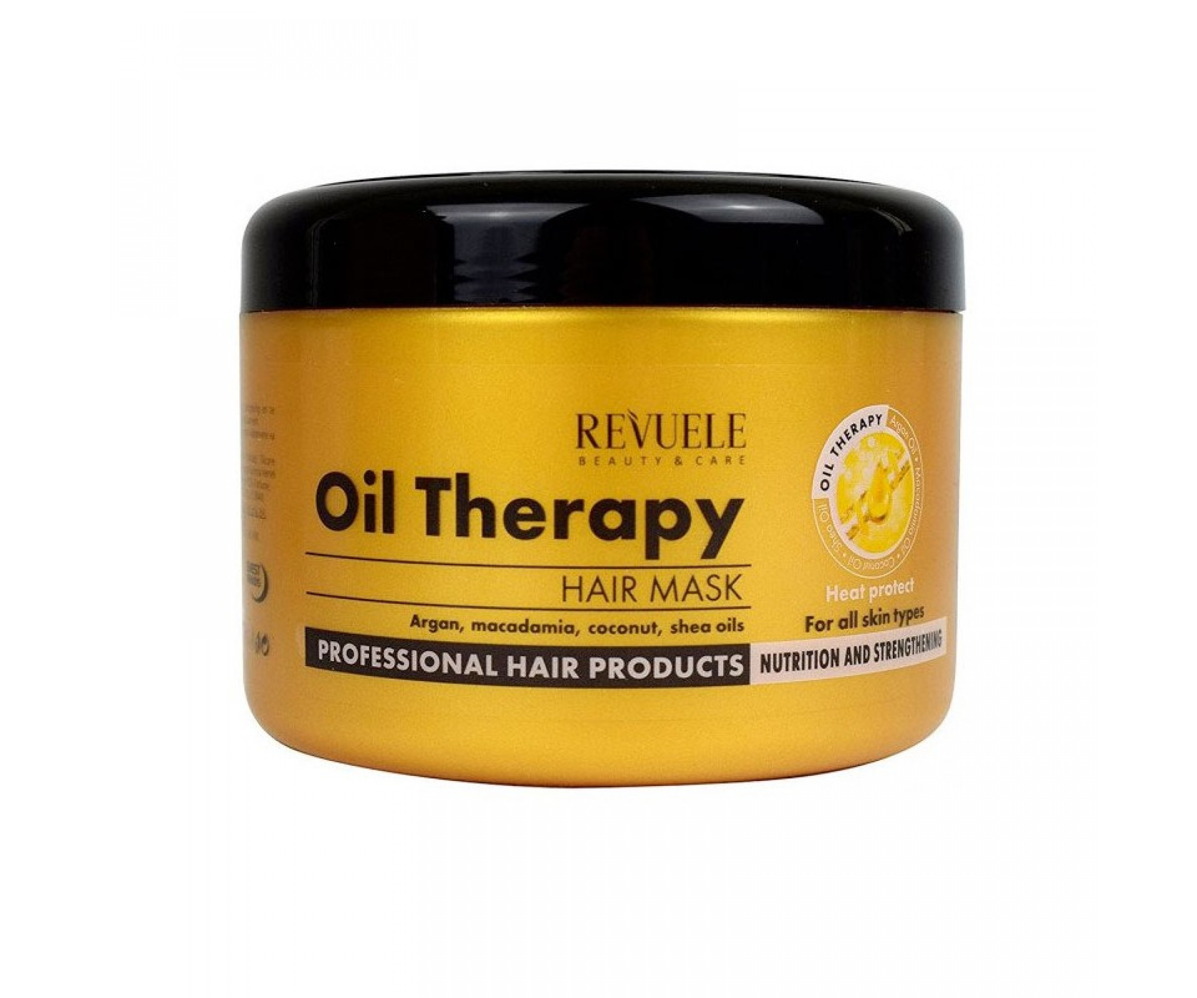 Revuele Hair Mask Oil Therapy With Argan Oil, Macadamia, Coconut And Shea Oils