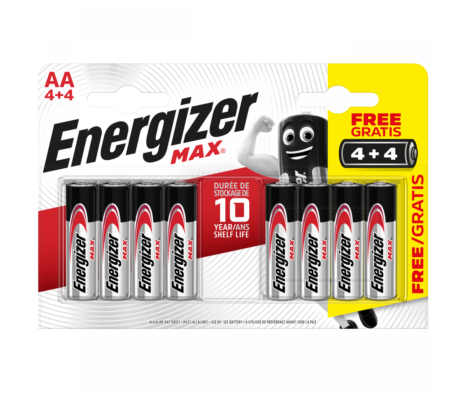 ENERGIZER MAX AA 4+4